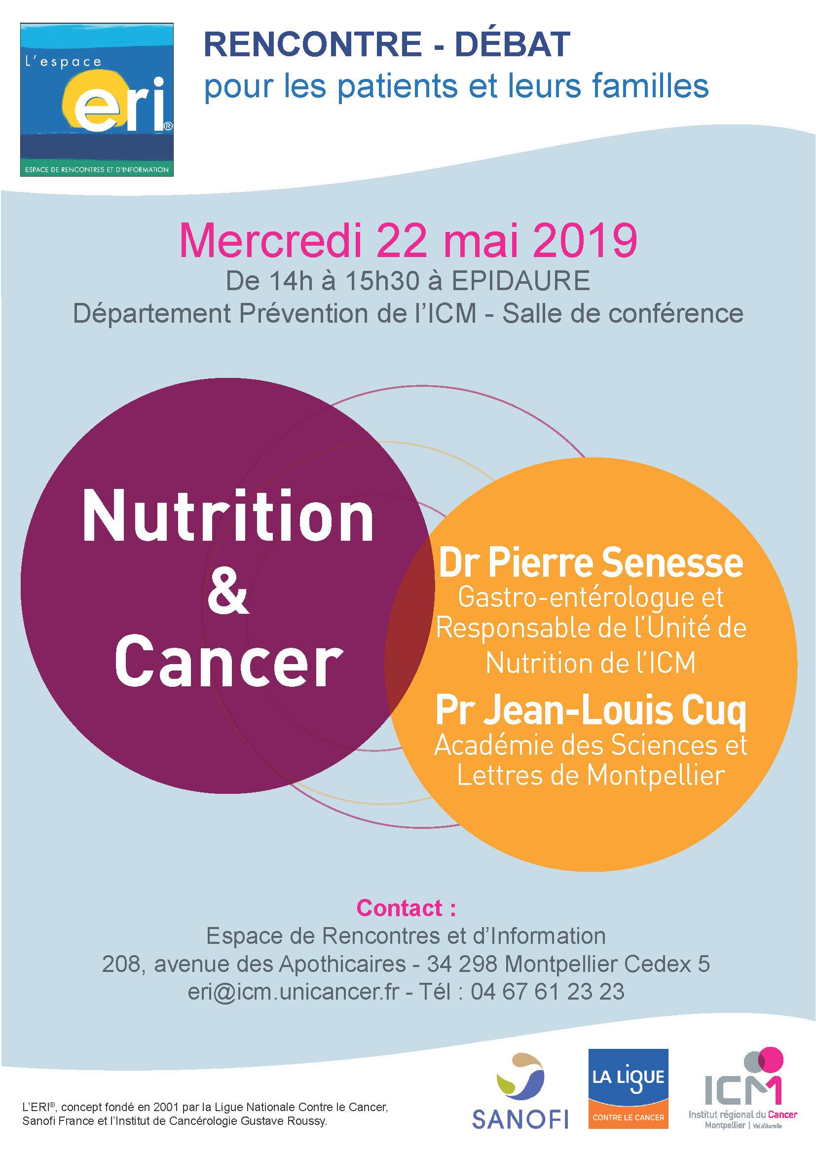 Conférence ERI Nutrition et Cancer 22 mai_2019