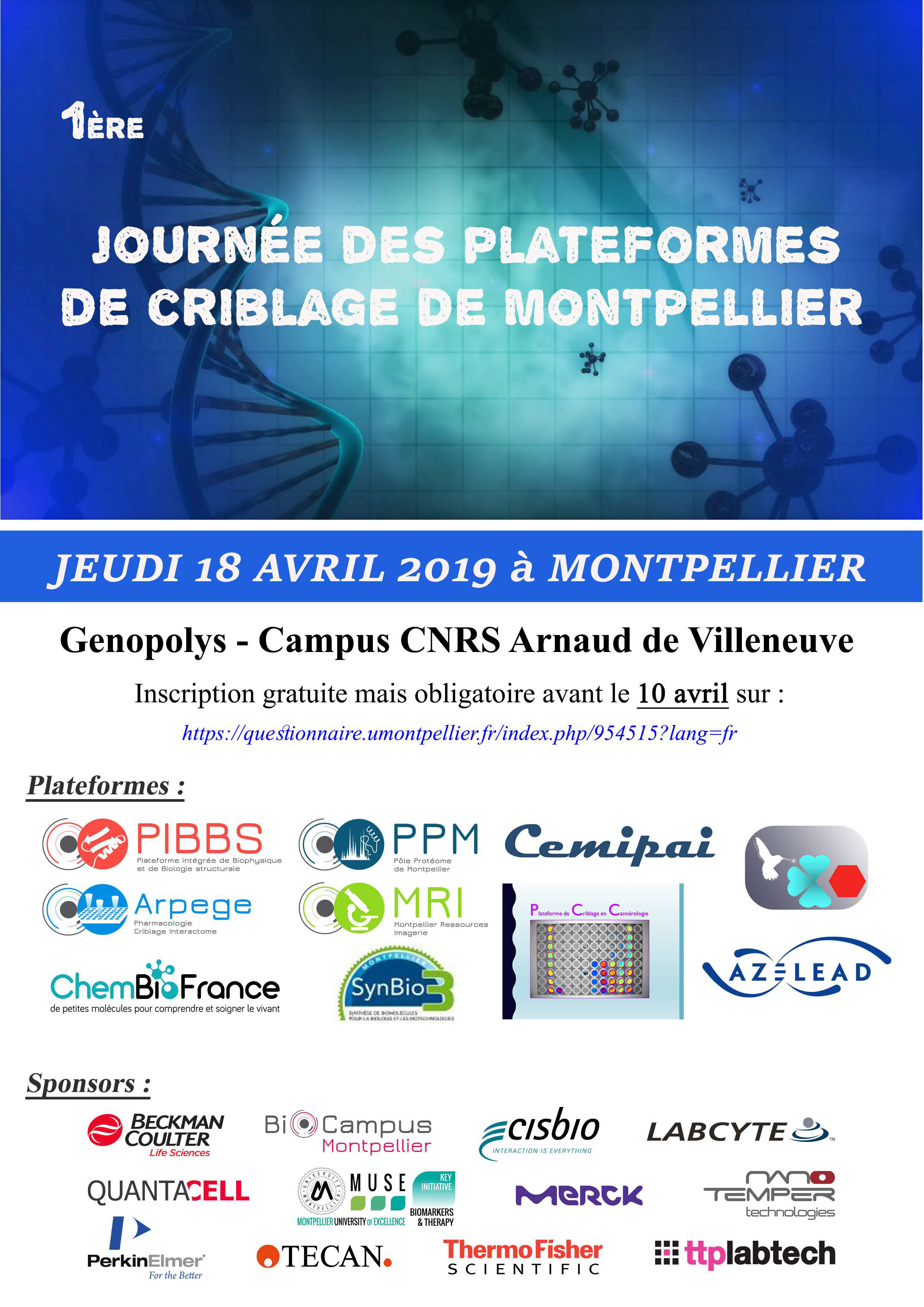 Flyer Journée PF criblage 18 avril 2019